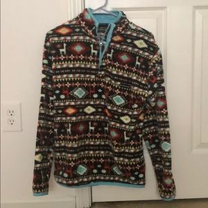Southern Marsh Patterned Sherpa Pullover